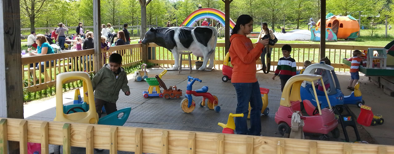 Play area under cover at Clarks Farm, Ellicot City
